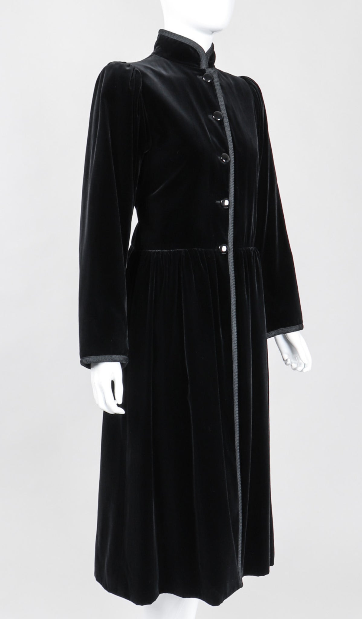 Dress Code Recess Los Angeles Yves Saint Laurent YSL Operas-Ballets Russes Russian Collection Folk Velvet Coat Dress Jacket