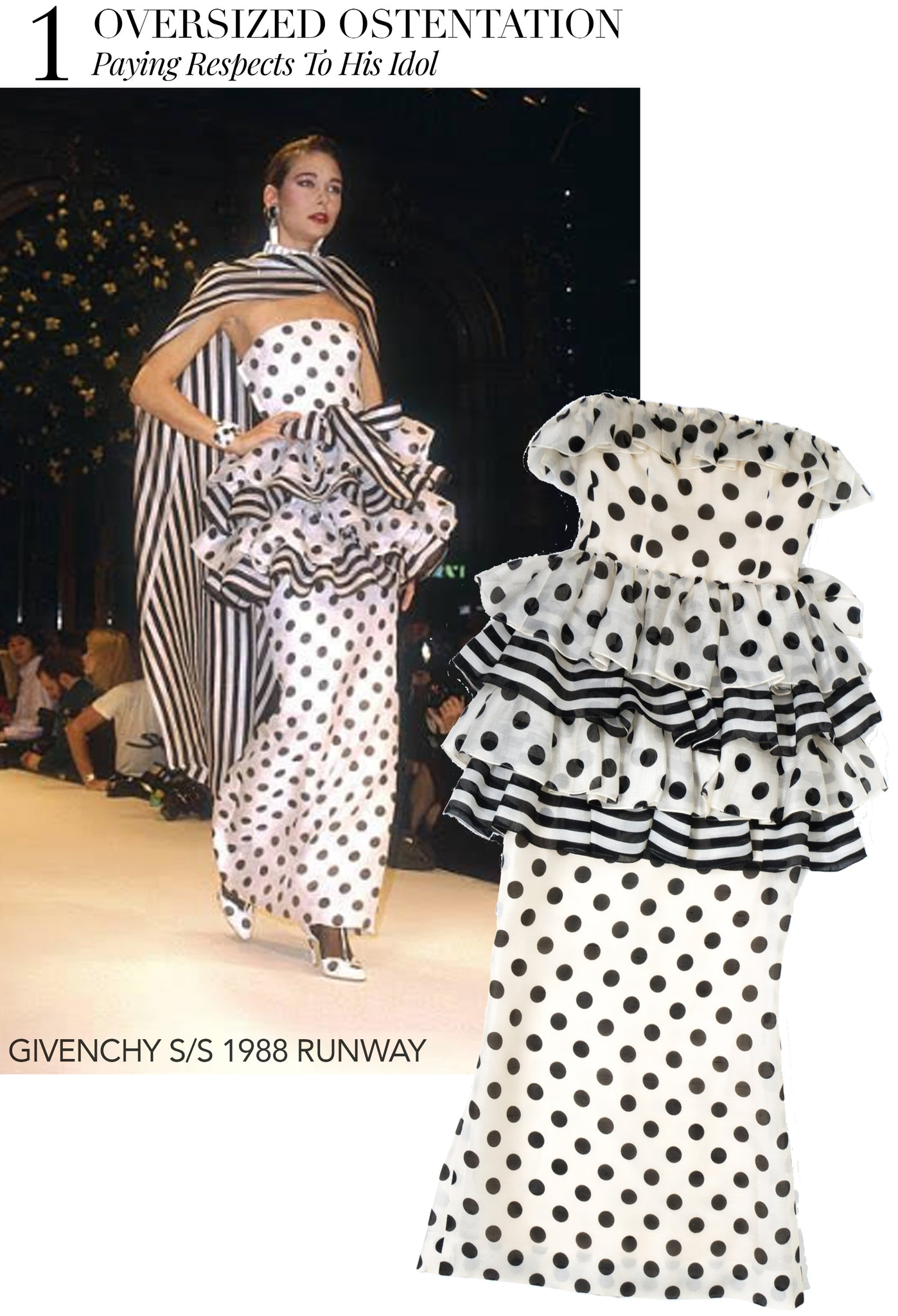 Recess Dress Code Givenchy Spring Summer 1988 Polka Dot Dress Oversized Ostentation