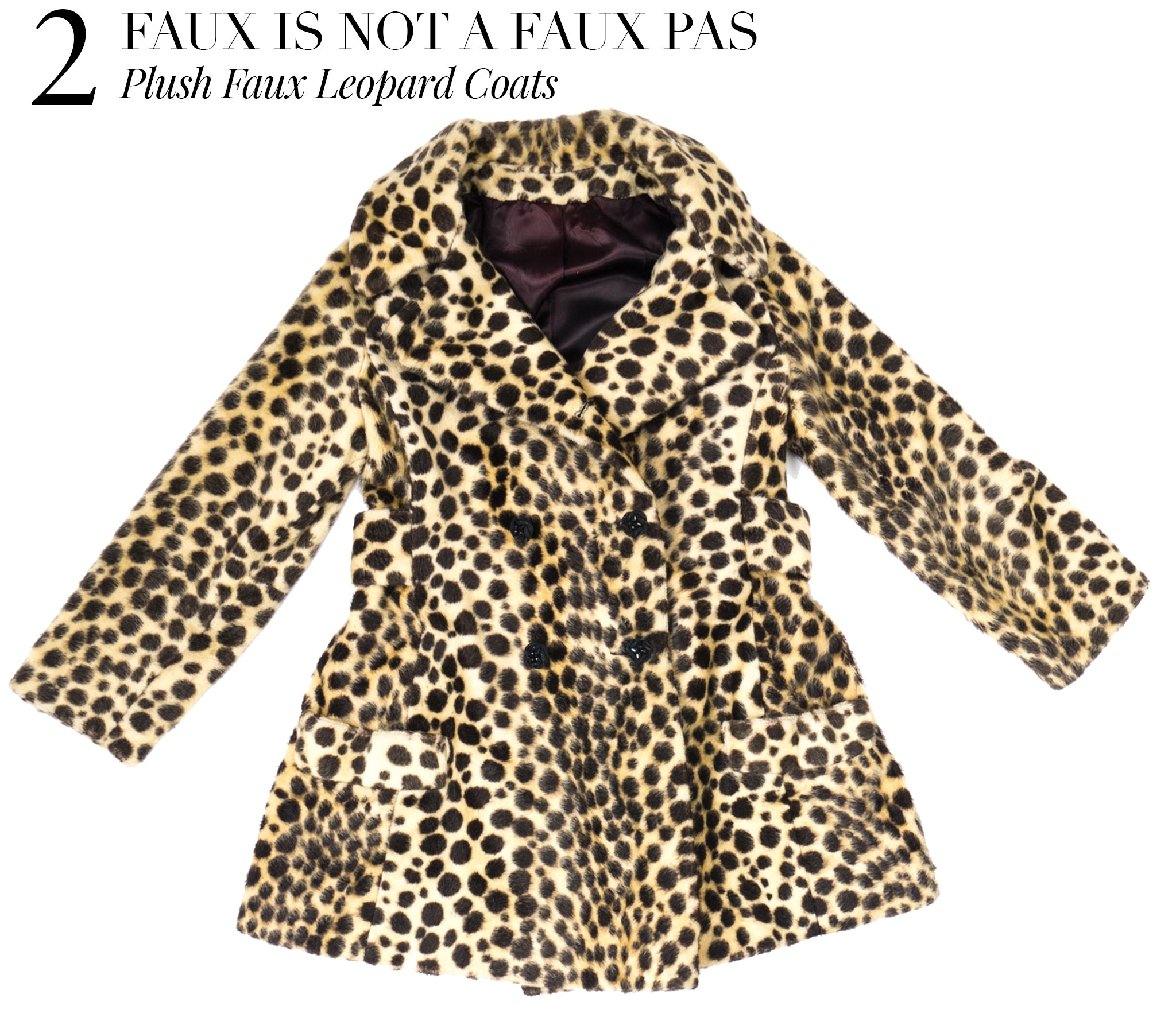 Recess Dress Code Faux Leopard Coats