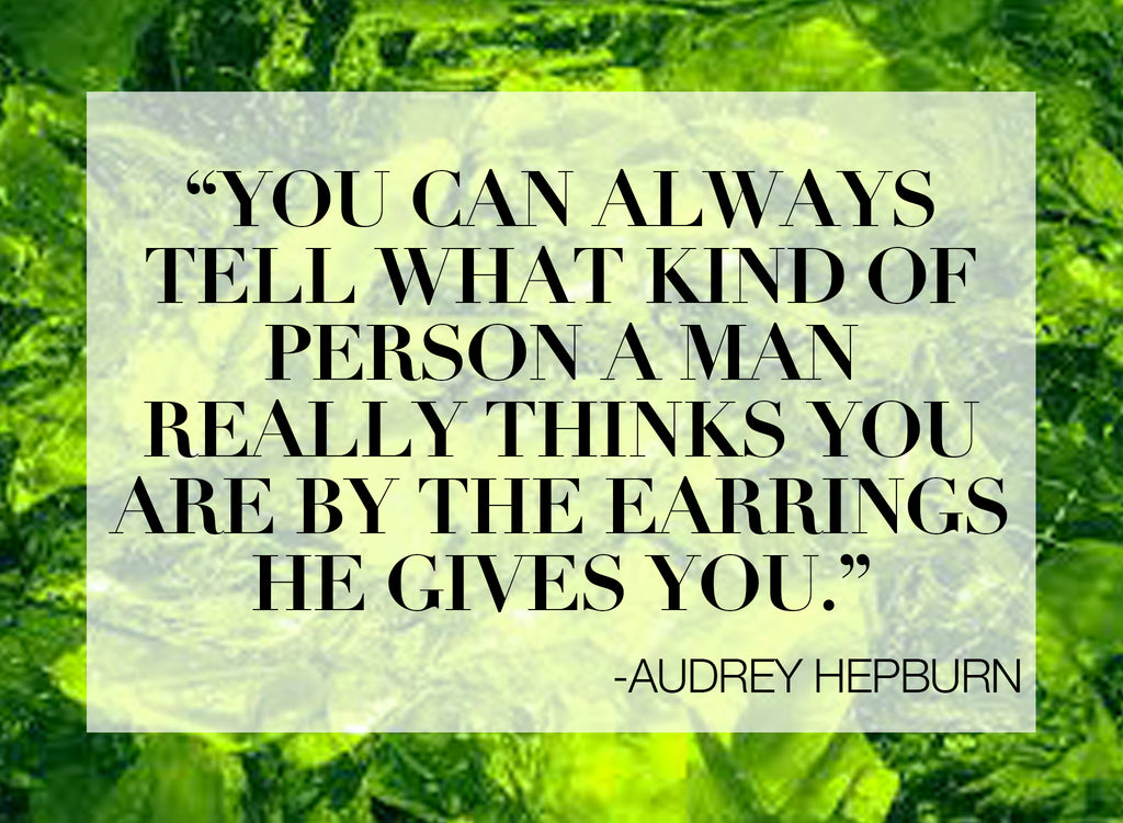 RECESS Los Angeles Vintage Dress Code Audrey Hepburn Jewelry Quote EARRINGS