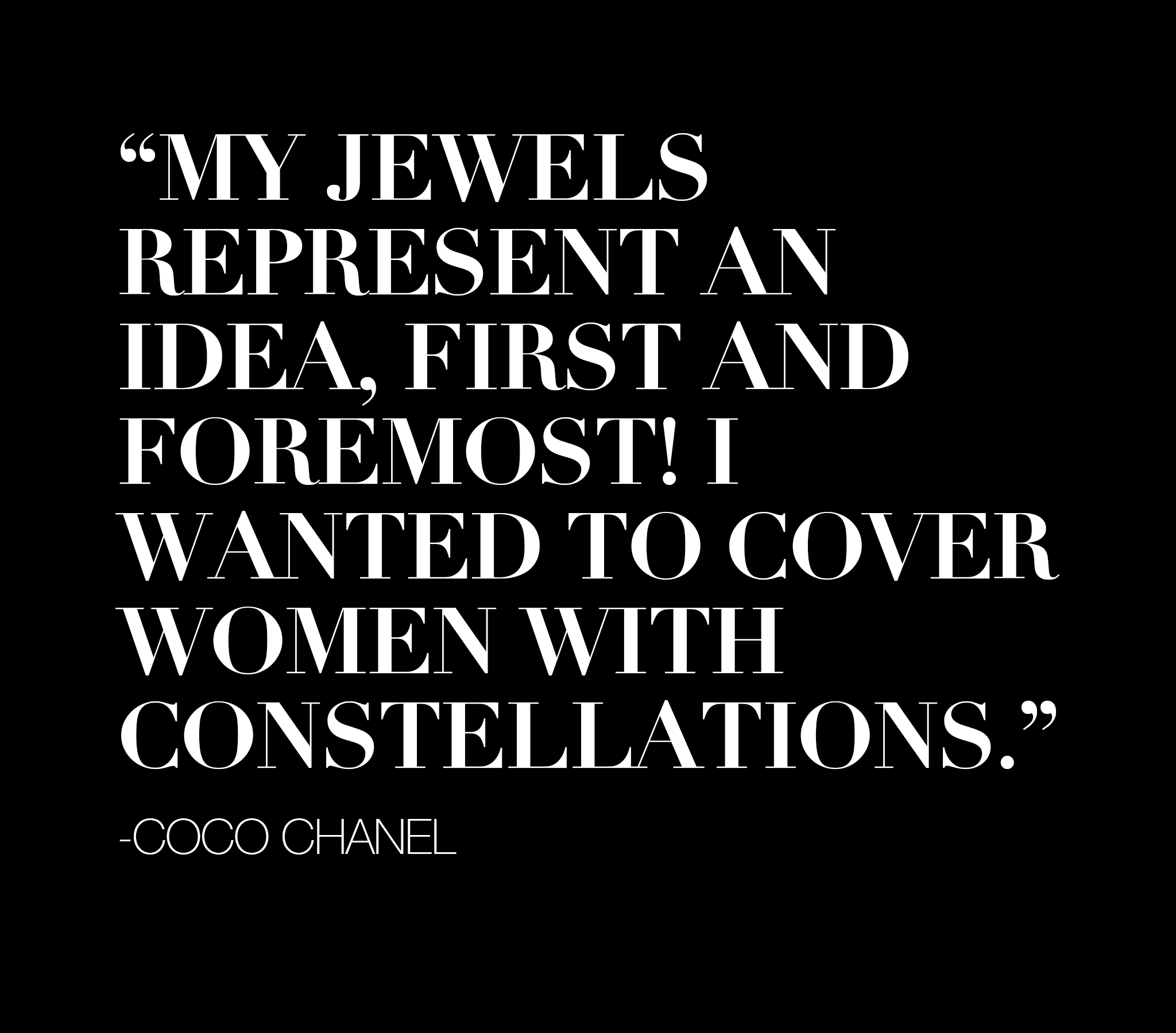 RECESS Los Angeles Vintage Dress Code COCO CHANEL Jewelry Quote Constellations