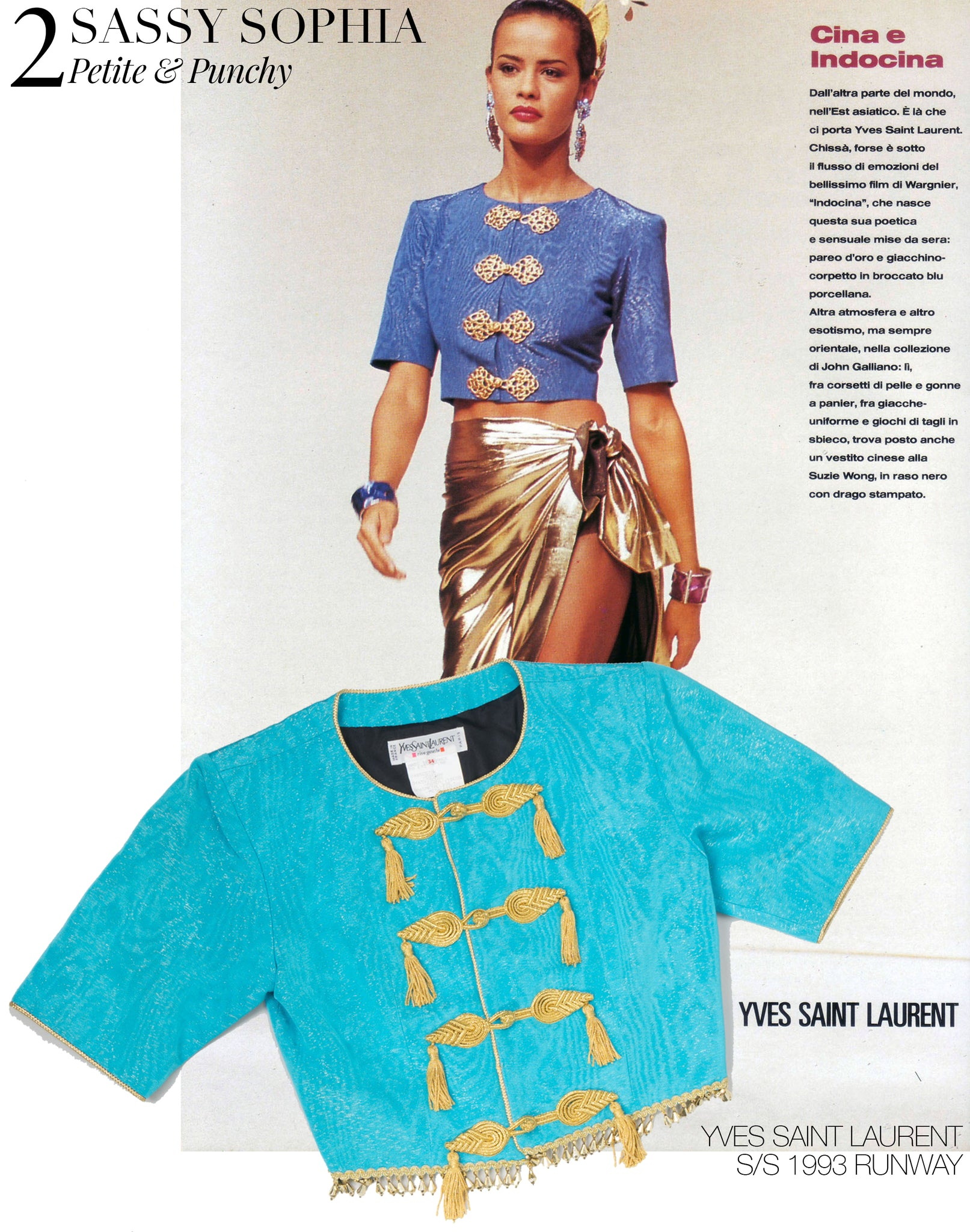 Recess Dress Code Kevin Golden Girls Yves Saint Laurent YSL 1993 Runway