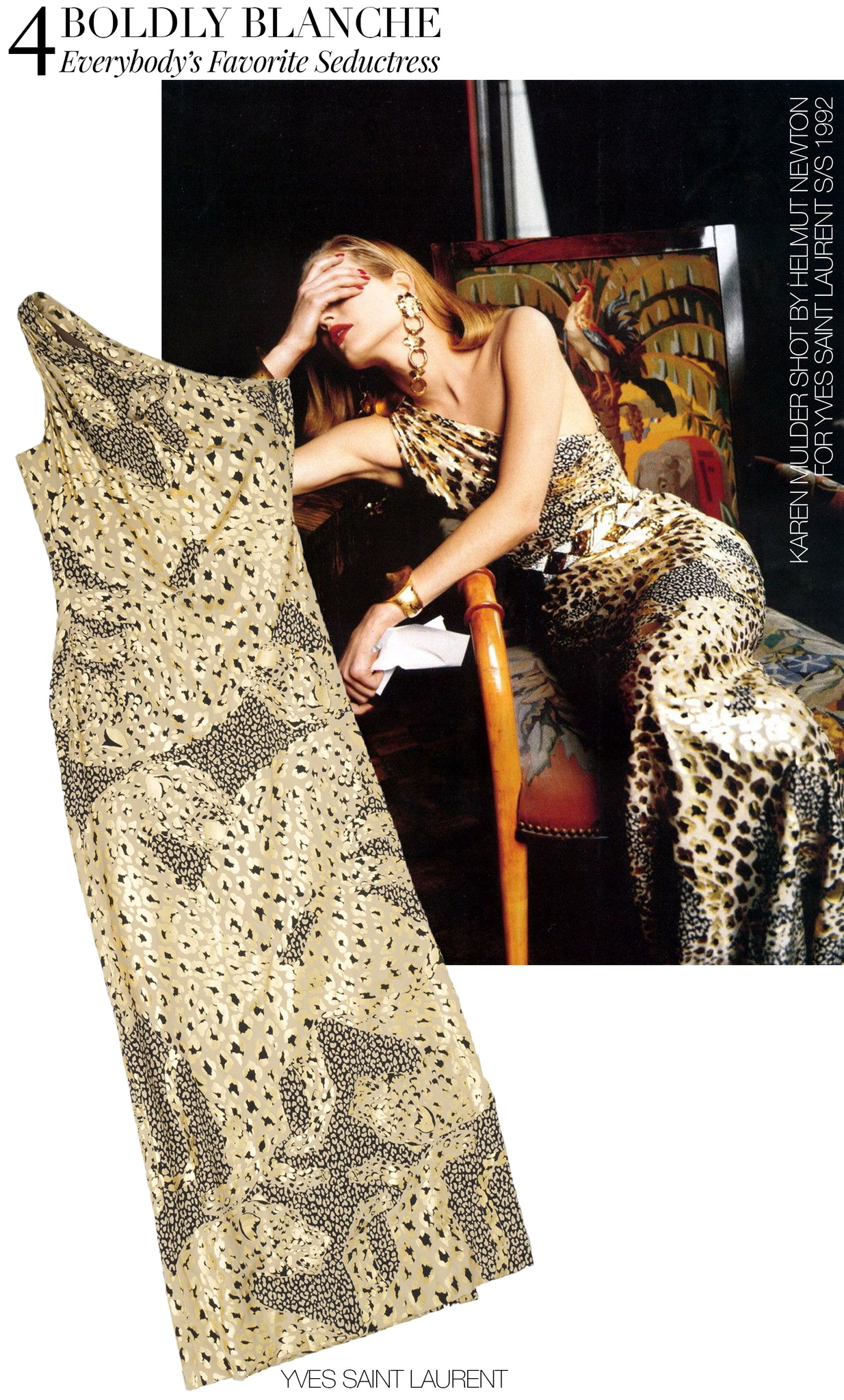 Recess Dress Code Kevin Golden Girls YSL Saint Laurent Leopard Gold Gown