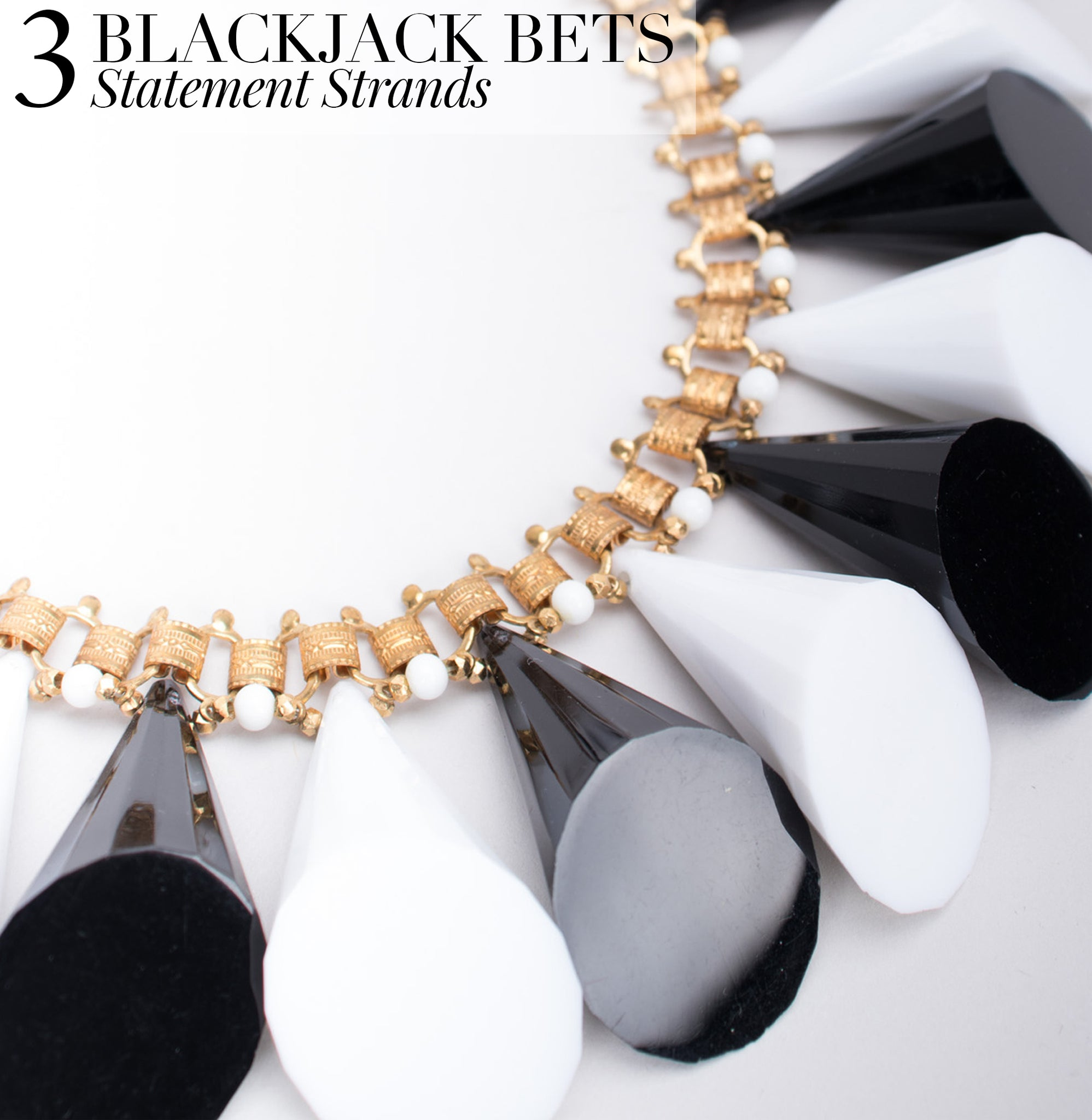 RECESS Dress Code Glamorous Las Vegas William De Lillo Cone Collar Necklace Blackjack