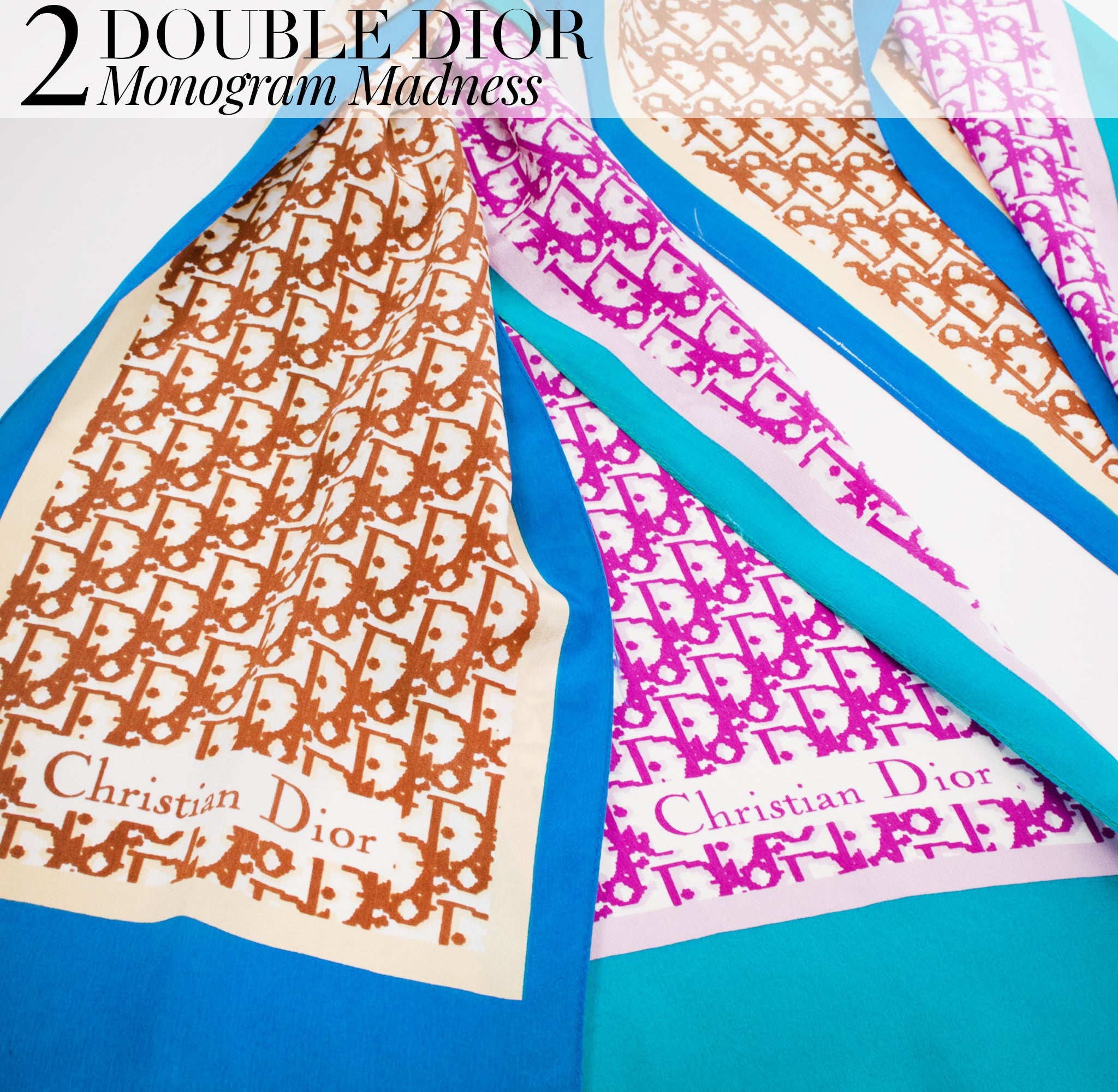 Recess Dress Code Double Trouble Two Monogram Madness Matching Dior Scarves