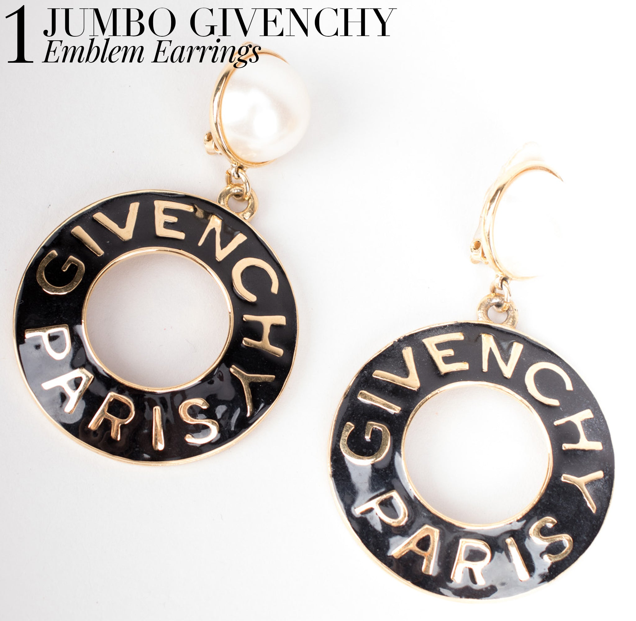 Recess Dress Code Logomania Givenchy Enamel Hoop Earrings
