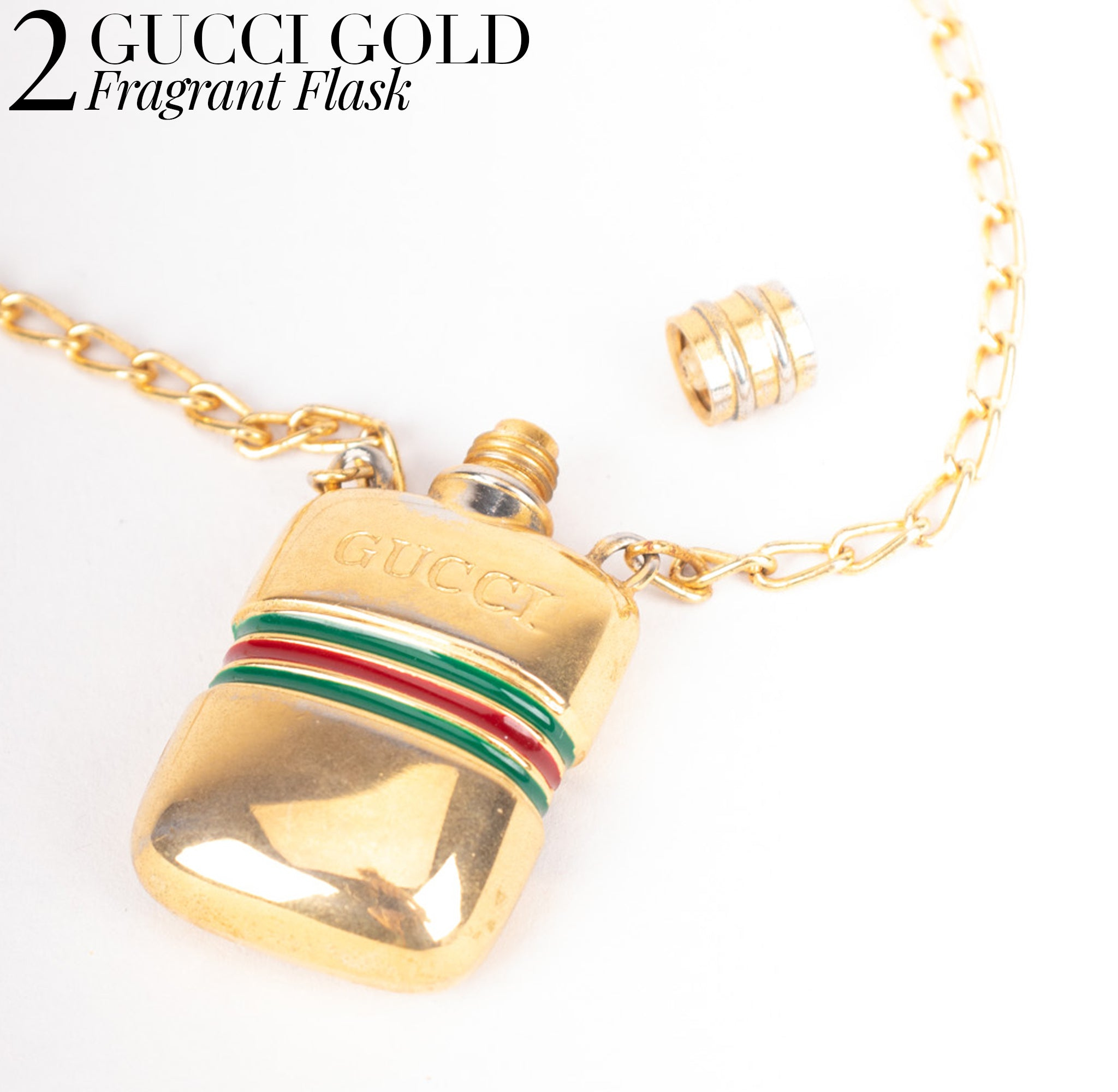 Recess Dress Code Logomania Gucci Flask Perfume Snuff Coke Pendant Necklace
