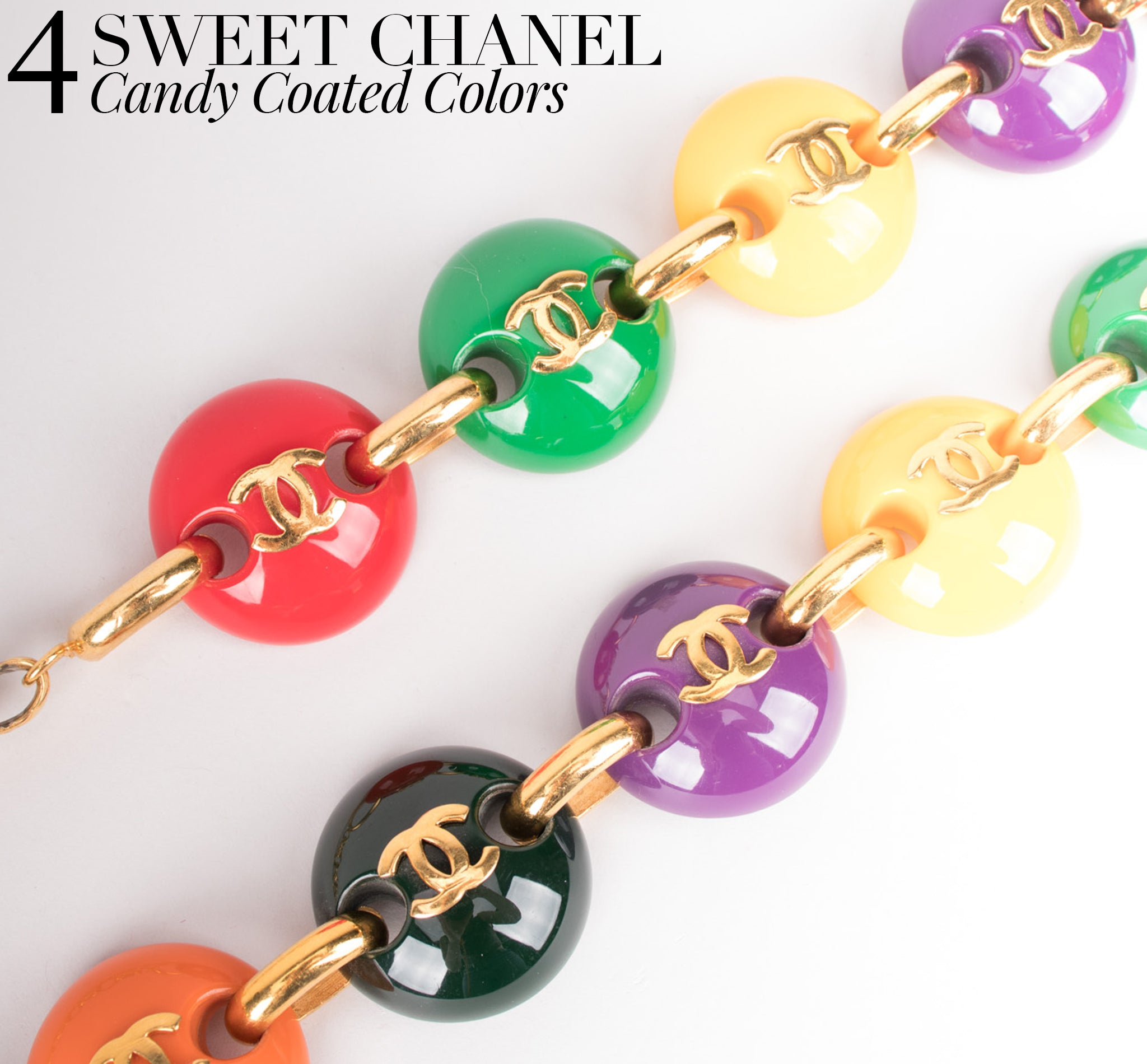 Recess Dress Code Logomania Chanel Candy M&M Chain Belt