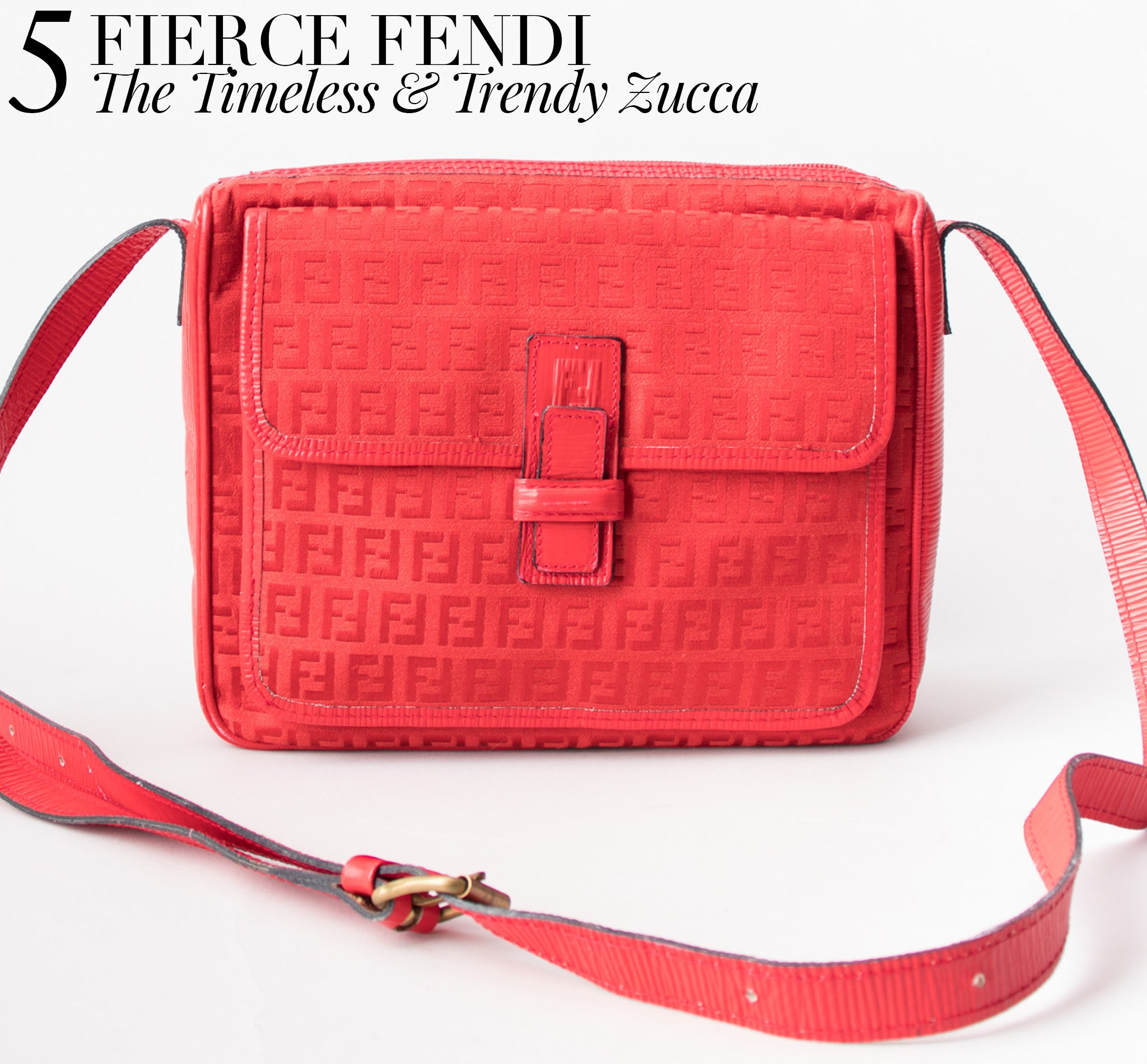 Recess Dress Code Logomania Fendi Vintage Monogram Crossbody Canvas Bag