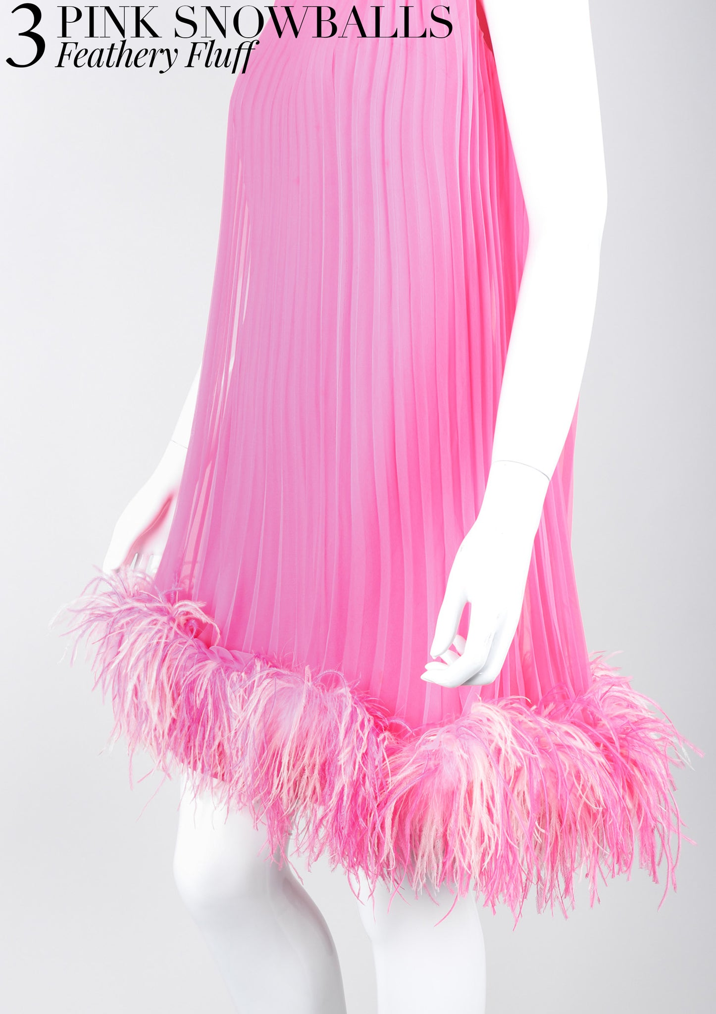 RECESS Los Angeles Vintage Dress Code Ice Cream Dream Pink Snowball Lee Jordan Hot Pink Pleated Trapeze Dress