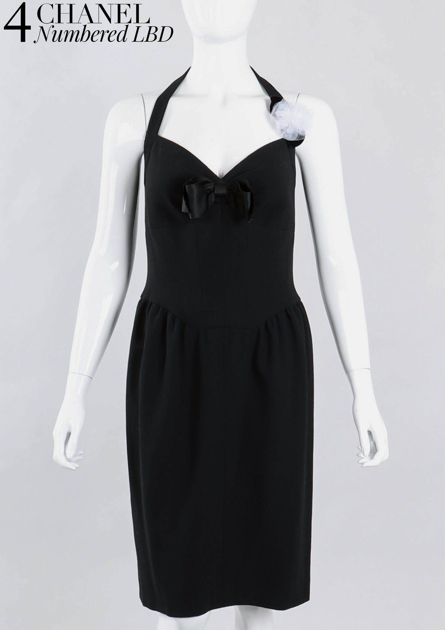 RECESS Los Angeles Vintage Dress Code Statement Piece Major Player Chanel Numbered Little Black Cocktail Dress