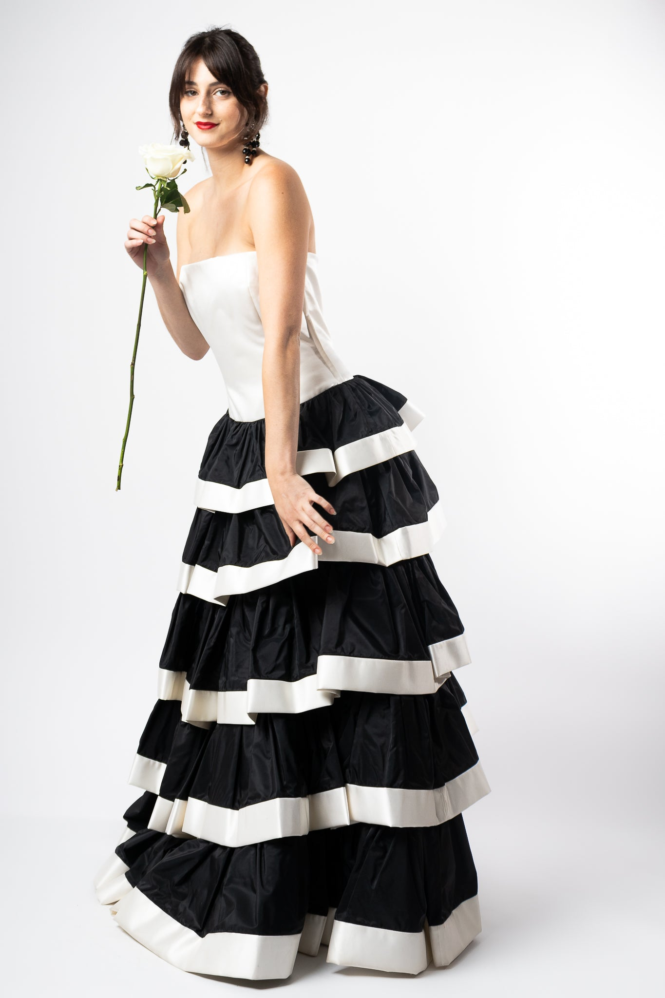 Recess Los Angeles Vintage Consignment Romy Reiner Escada Tiered Gown