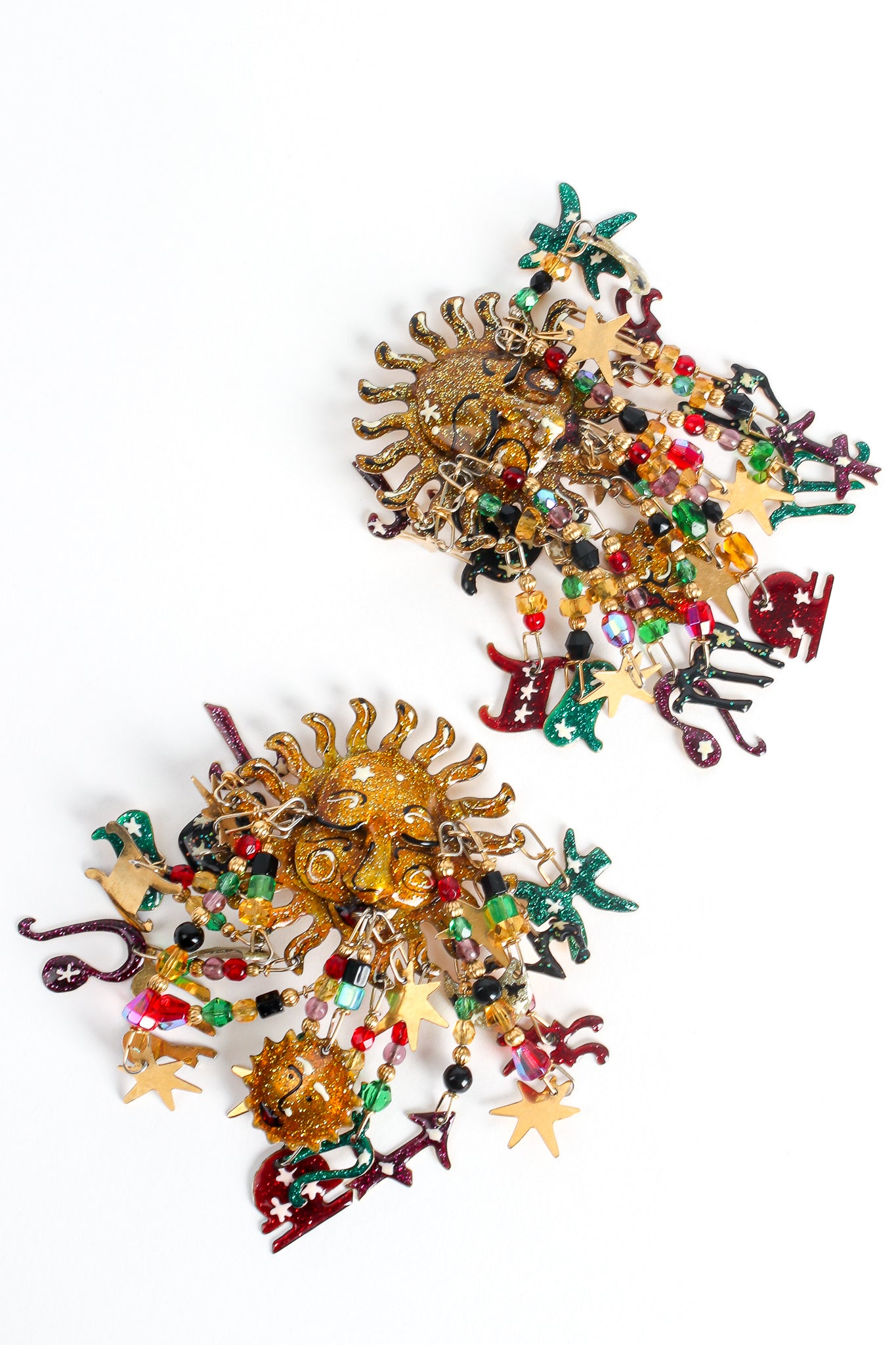 Recess Los Angeles Vintage Designer Lunch At The Ritz Esme Hecht Zodiac Earrings