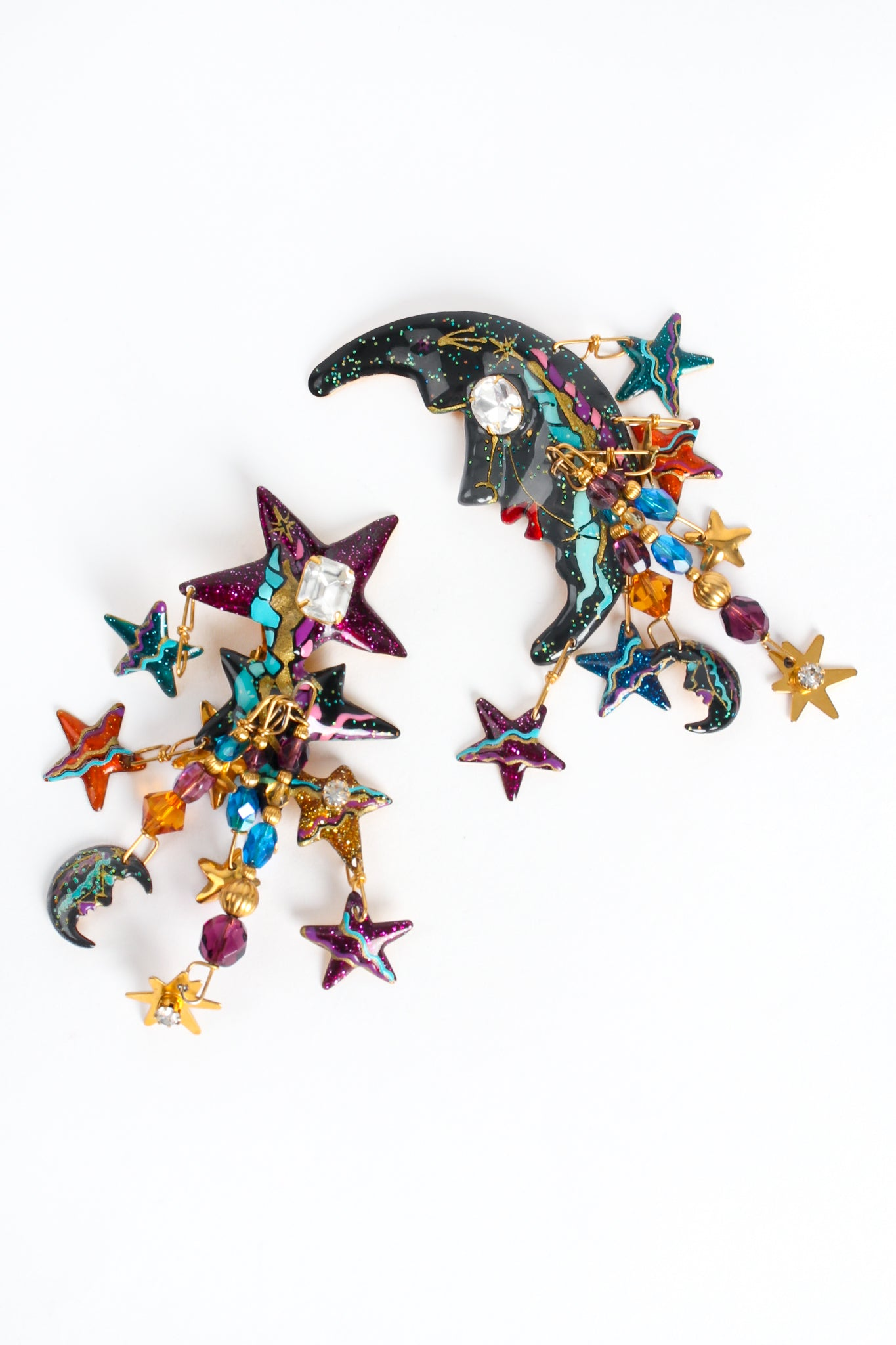 Recess Los Angeles Vintage Designer Lunch At The Ritz Esme Hecht Moon Star Earrings