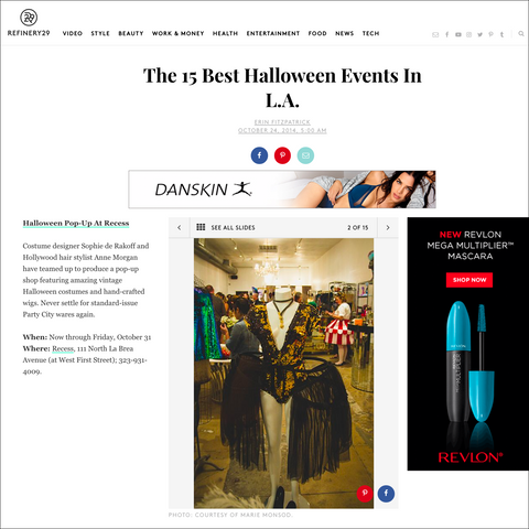 Recess in Refinery29 Best Halloween Shopping