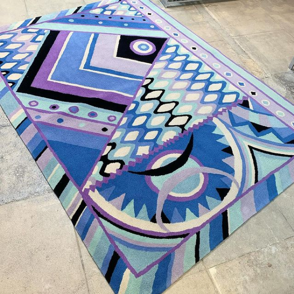 Recess Los Angeles Designer Vintage Consignment Home Expansion Launch Pucci Rug