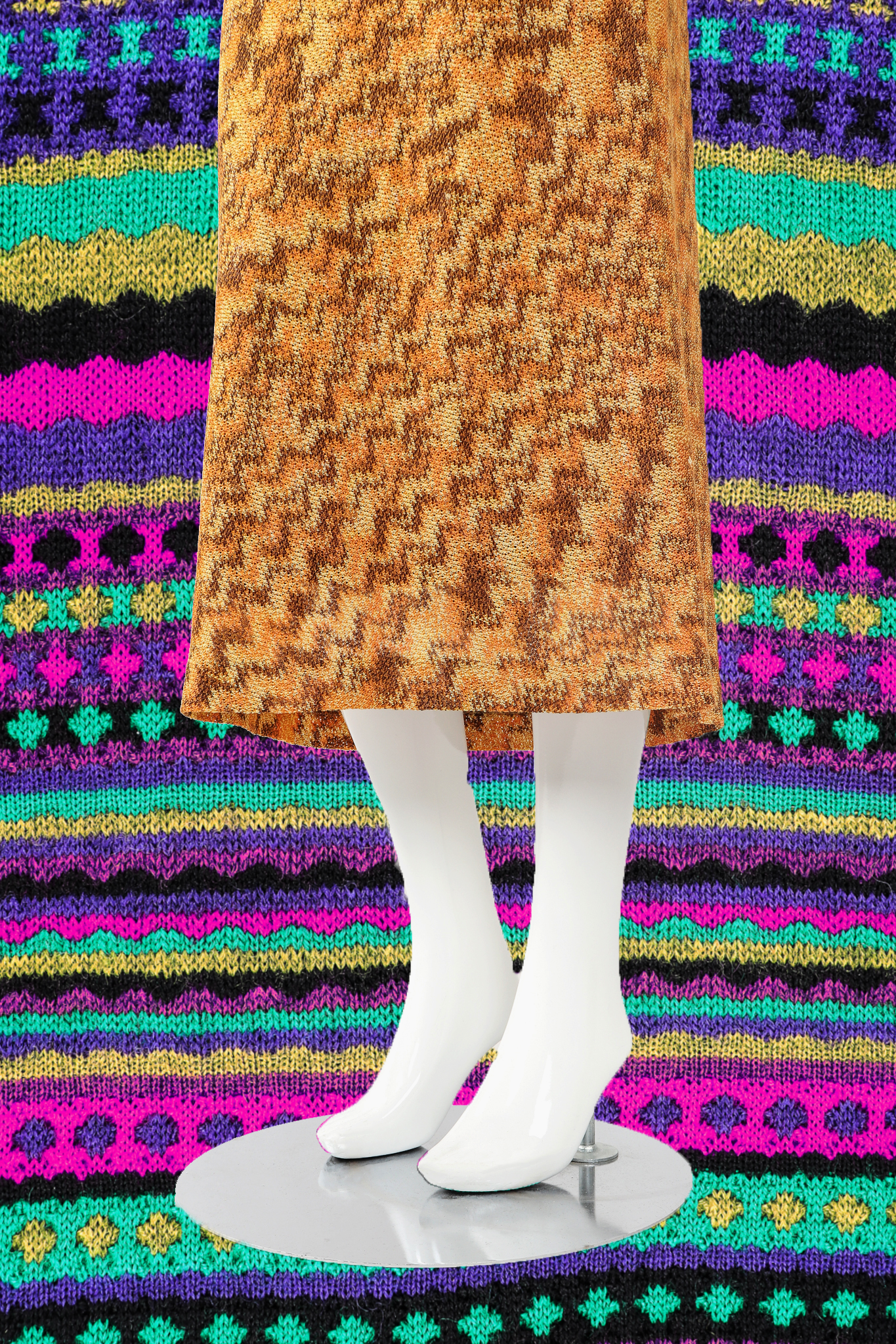 Recess DressCode Designer Consignment Vintage Missoni Knit Knitwear Sweater Weather Skirt Space Dye