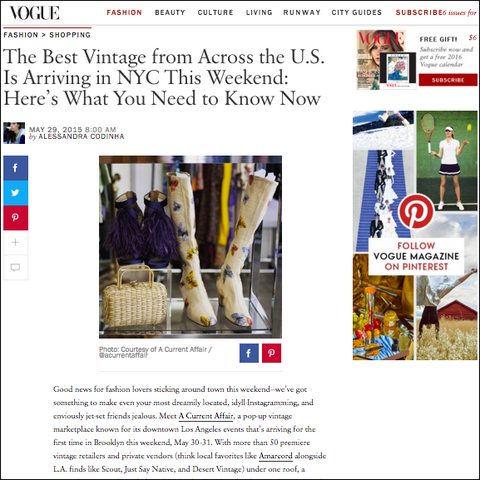 Recess Boots In Vogue- Best Vintage in NYC