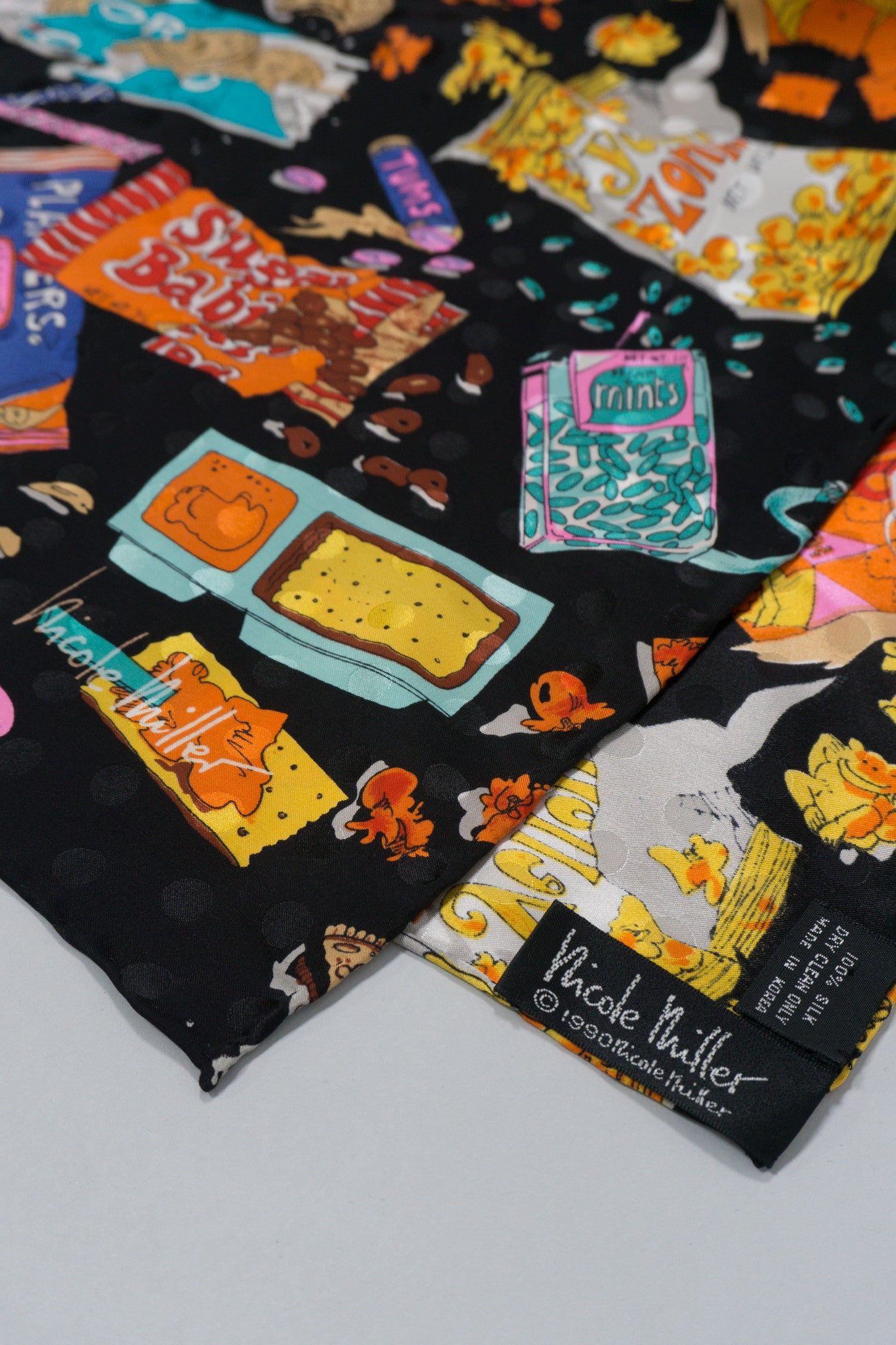 Nicole Miller Snack Attack Junk Food Scarf