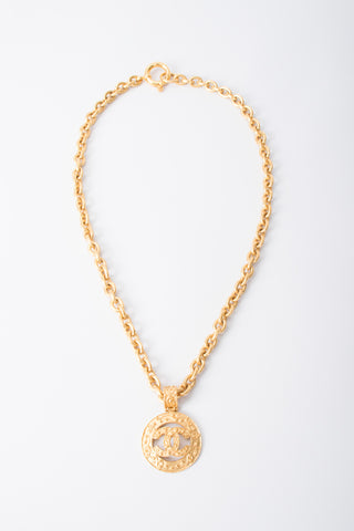 Chanel CC Logo Pendant Chain Necklace