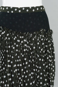 Dot Layered Drape Skirt
