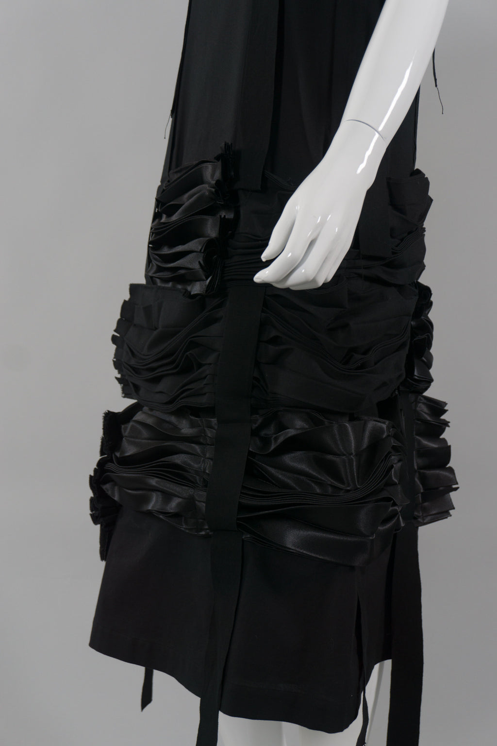 Comme des Garçons Tiered Ruched Ribbon Skirt