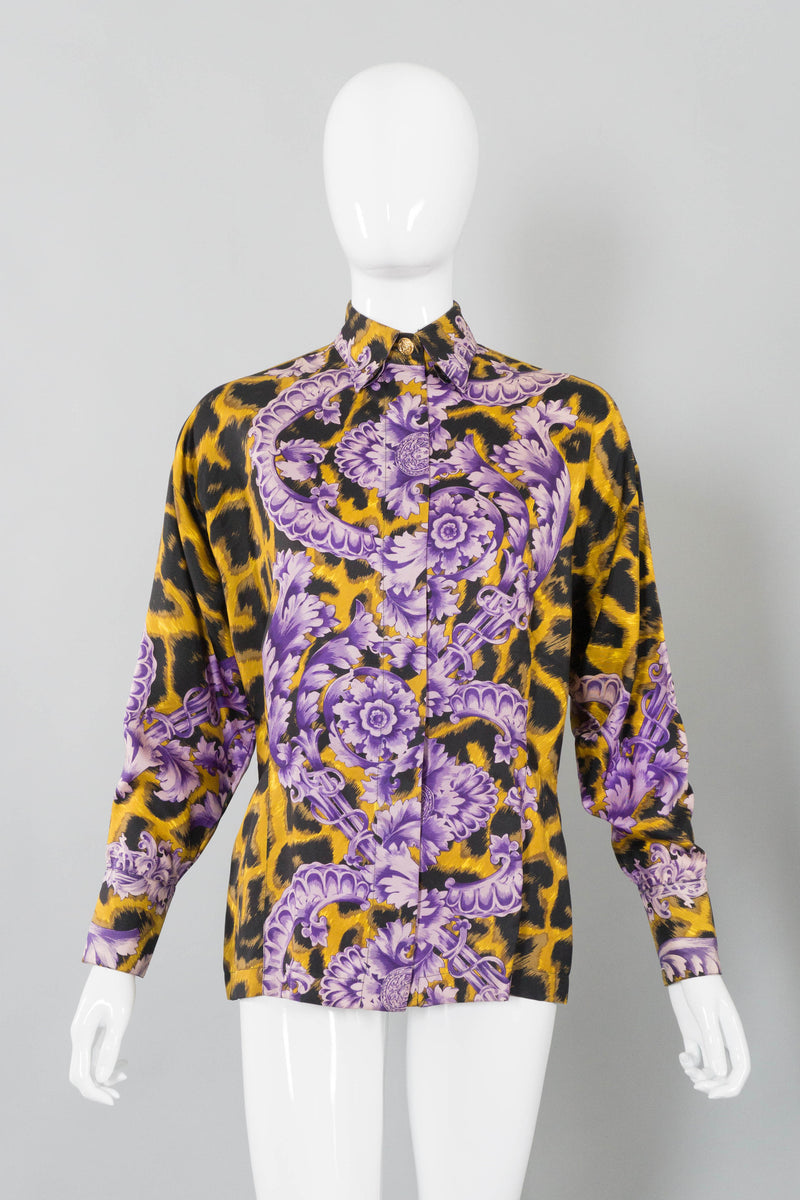 db253f14 Gianni Versace Cheetah Print Silk Blouse – Recess LA