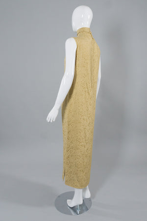 Rudi Gernreich Butter Burnour Column Dress