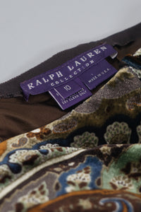 Purple Label Paisley Velvet Skirt