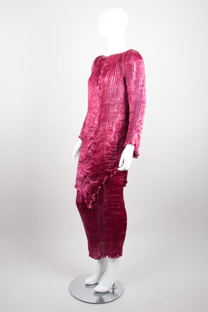 Patricia Lester Rare Fortuny Inspired Silk Pleated Top & Skirt Set