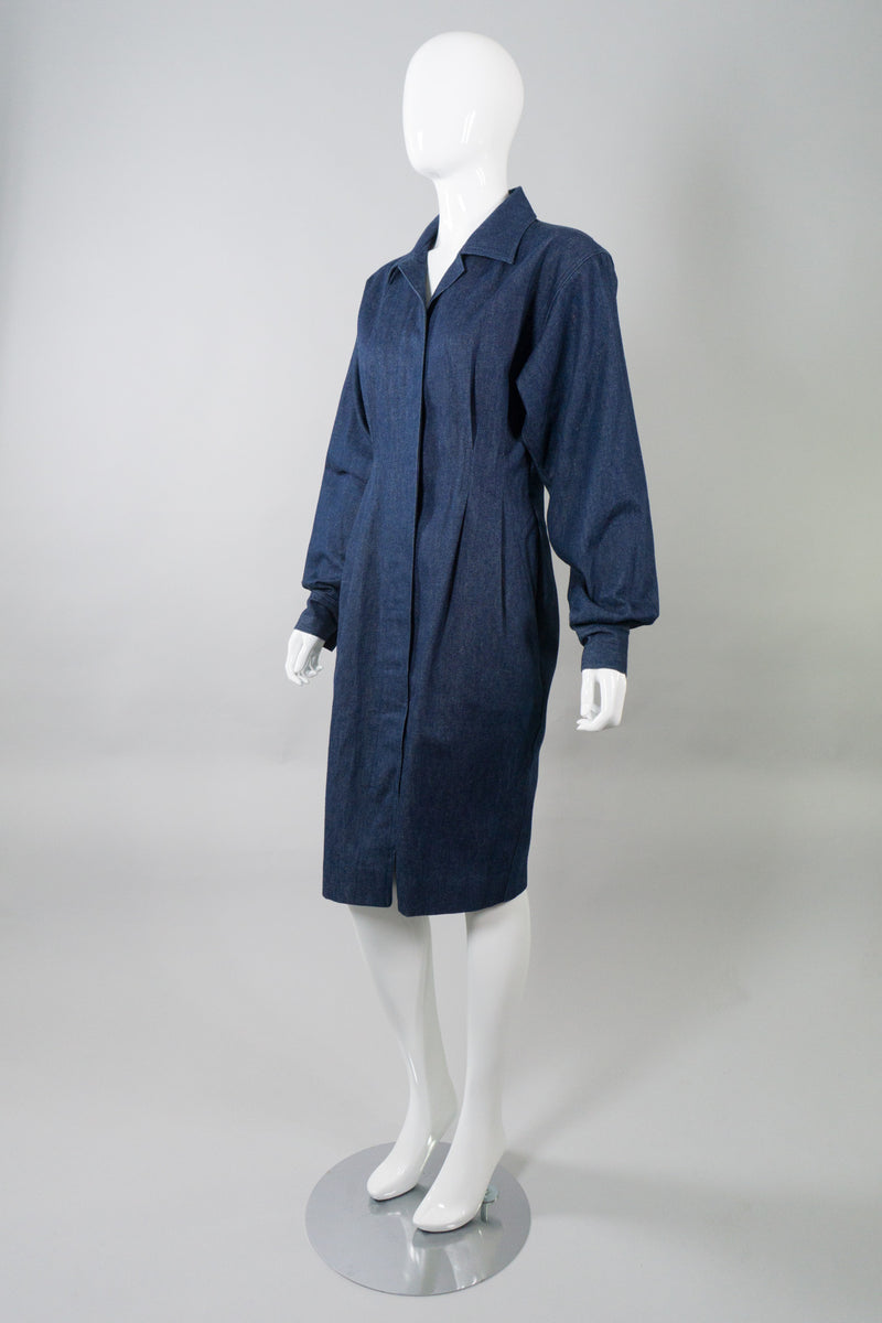 Donna Karan Structured Raw Denim Dress