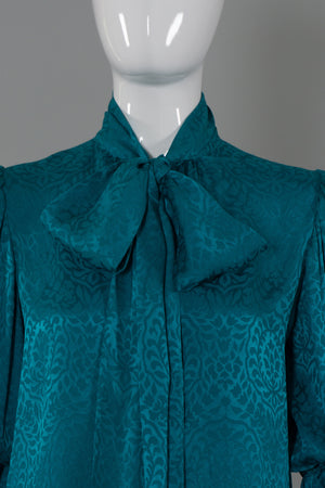 Yves Saint Laurent Tie Neck Blouse