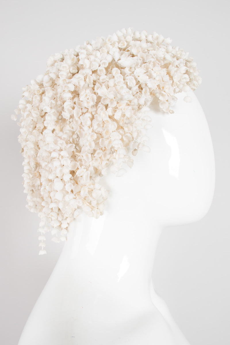 Albrizio Lord & Taylor Lily Of The Valley Crochet Casque Cap Hat