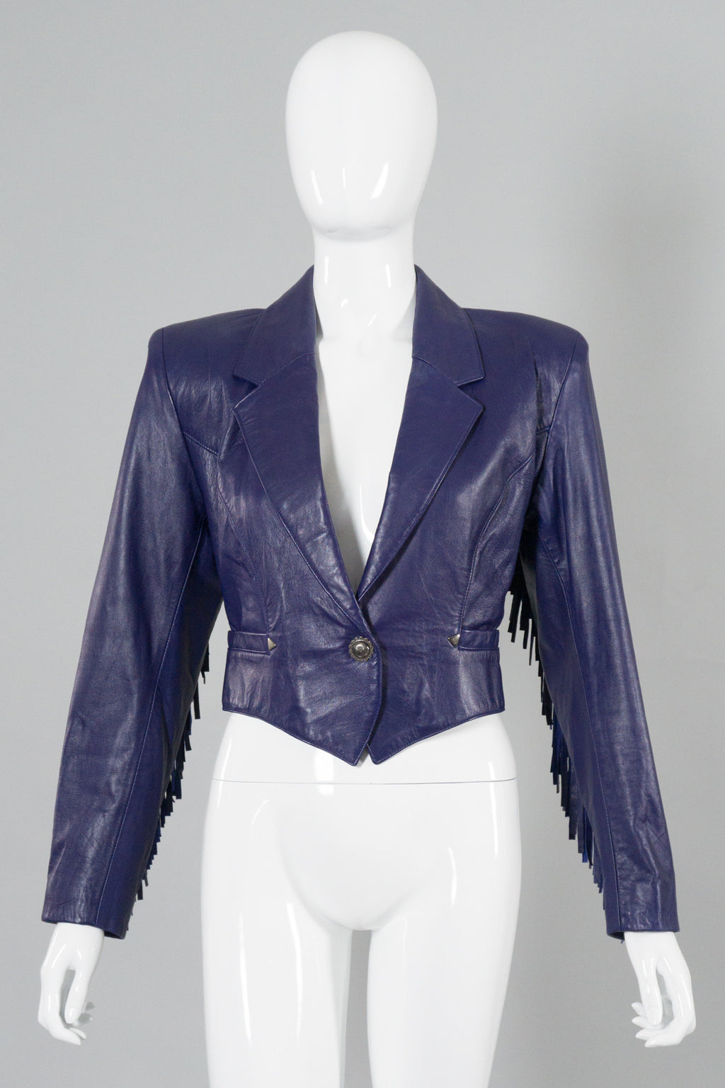 North Beach Leather by Michael Hoban Fringe Crop Jacket