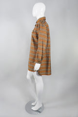 Yves Saint Laurent Rive Gauche Vintage Silk Stripe Tunic