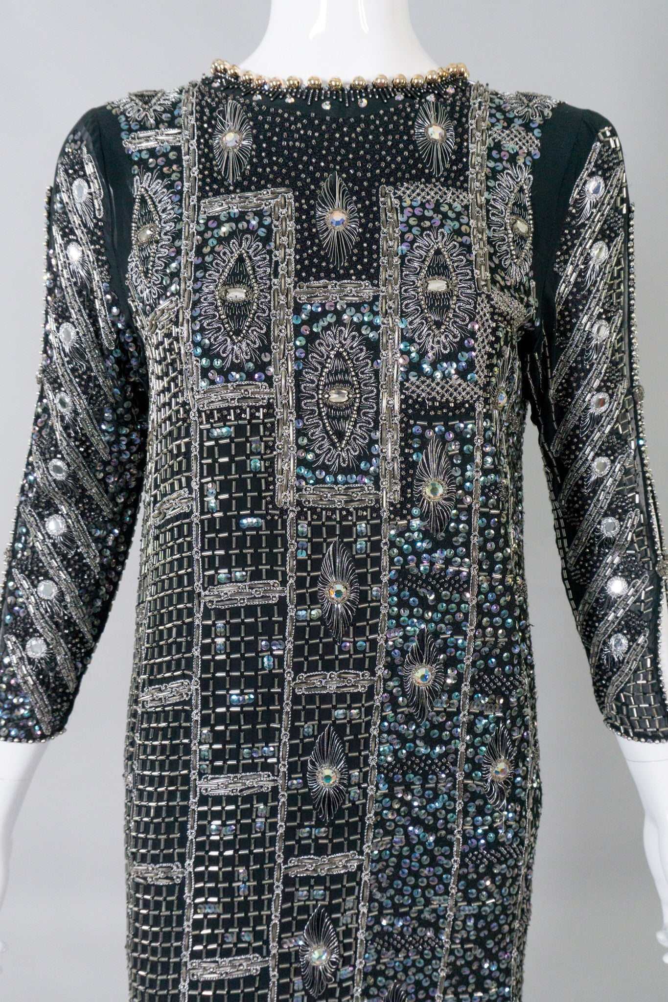 Zandra Rhodes Vintage Collectable Beaded Deco Dress