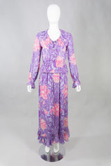 Pucci Silk Chiffon Floral Blouse & Skirt Set