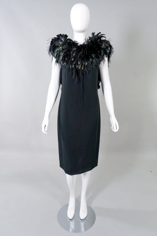 Lilli Diamond Vintage Feather Boa Cocktail Dress