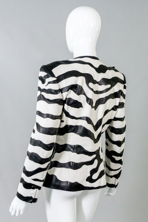 Jean Claude Jitrois Vintage Leather Zebra Jacket