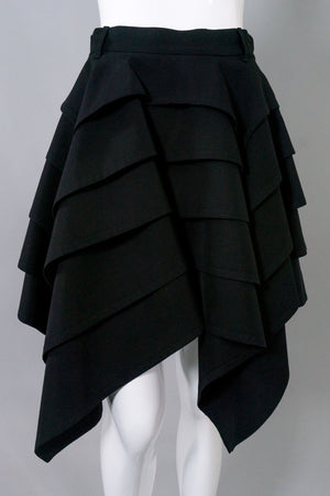 Jean Paul Gaultier Vintage Tiered Handkerchief Hem Skirt