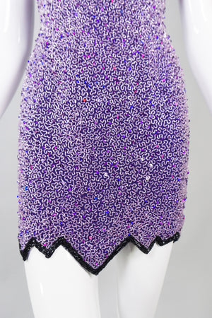 Naeem Khan Riazee Beaded Cocktail Mini Slip Dress