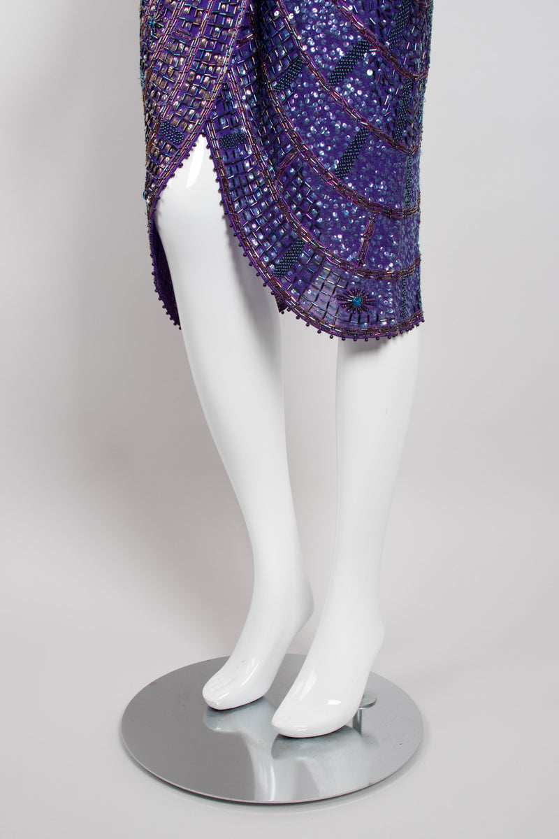 Zandra Rhodes Rare Collectable Beaded Draped Petal Cocktail Dress