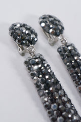 Crystal Exclamation Drop Earrings