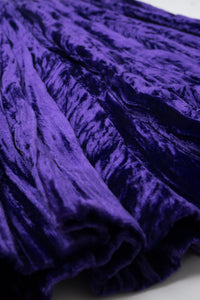 Yves Saint Laurent Rive Gauche Ultra Violet Crushed Velvet Skirt