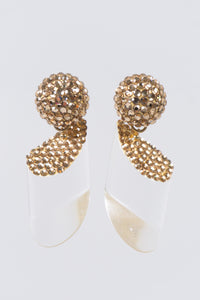 Richard Kerr Swarovski Crystal Lucite Drop Earrings