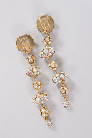 Crystal Saucer Ball Drop Earrings