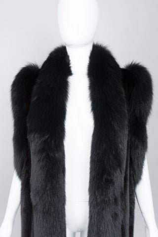 Vintage Long Mink & Fox Fur Vest