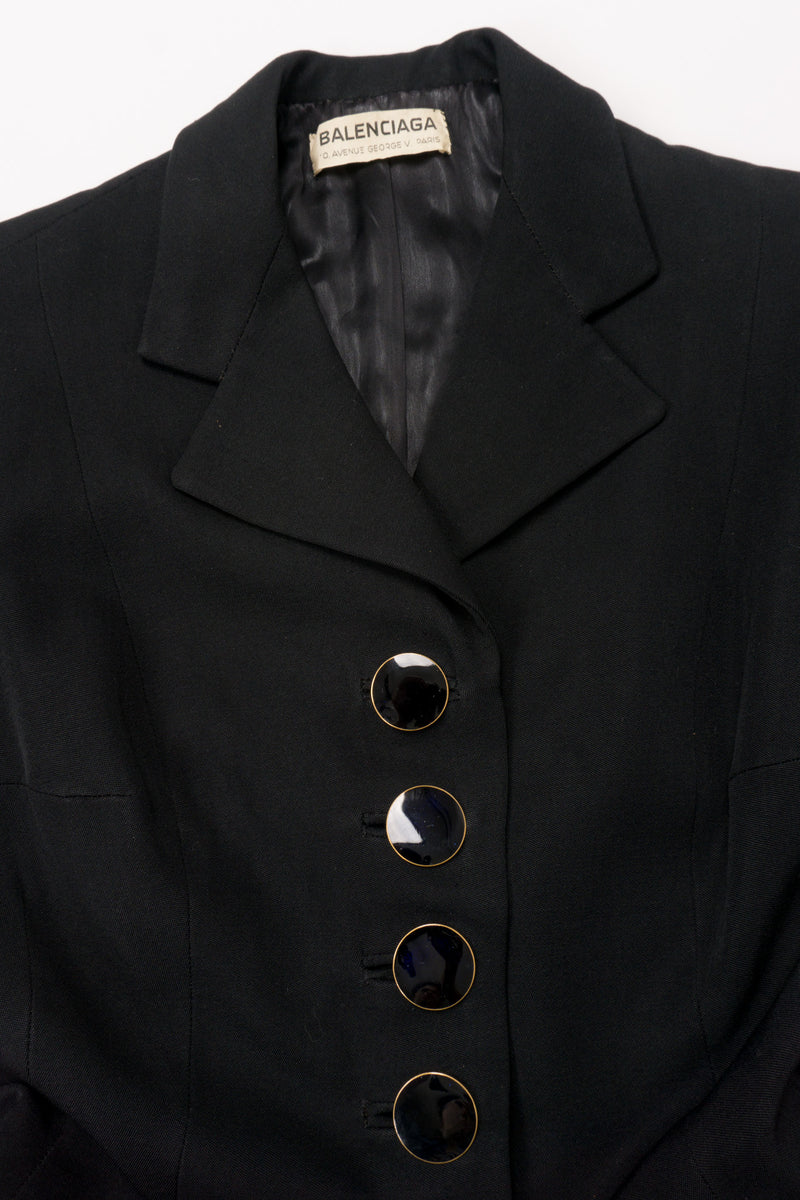 Balenciaga Vintage 50s Sculpted Button Jacket