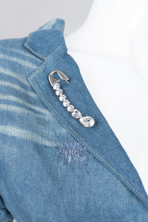 Sonia Rykiel Crystal Embellished Safety Pin Brooch
