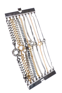 Ring Clasp Multi Chain Cuff Bracelet